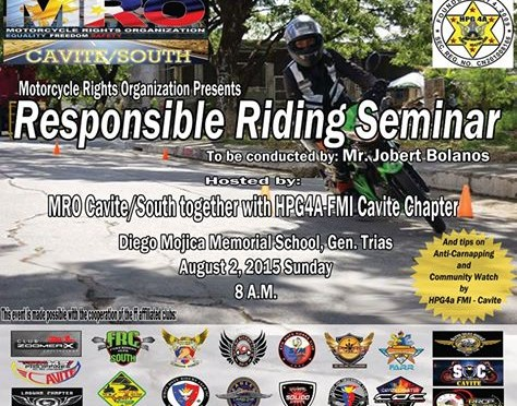 Kudos to MRO Cavite/South – Responsible Riding Seminar and Riding Development Program Graduates